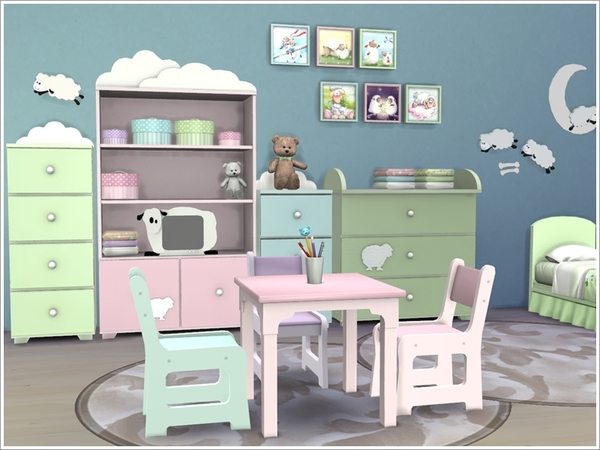 Kids room 'Baby sheep' by Severinka