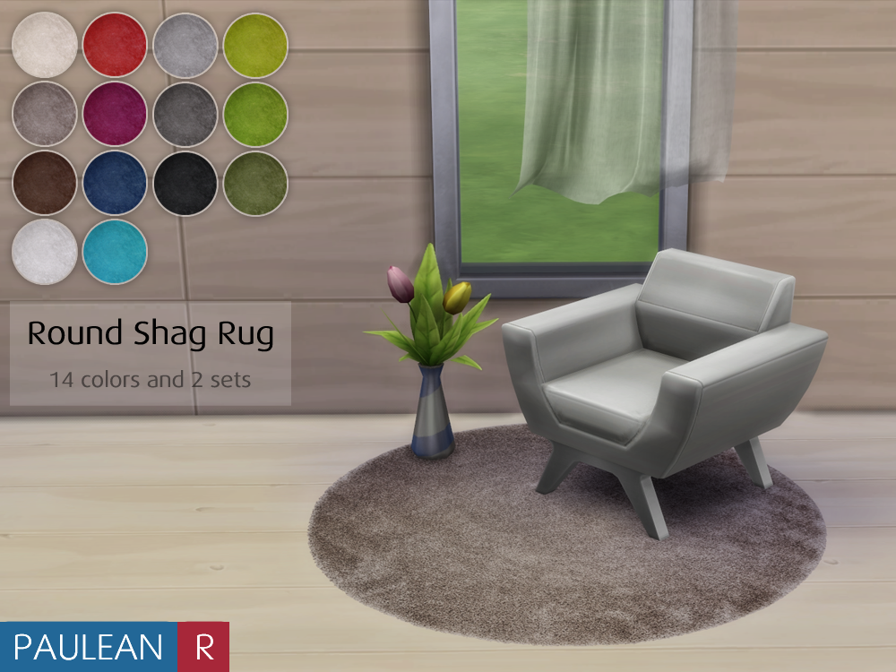 Round Shag Rugs by PauleanR