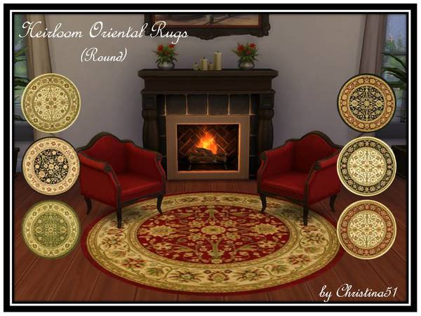 Heirloom Oriental Rugs (Round) by Christina51
