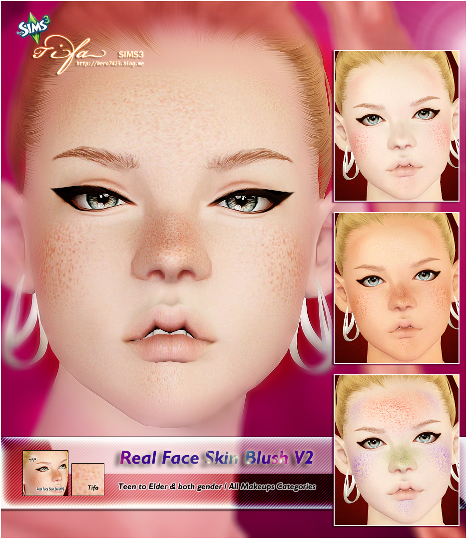 Real Face Skin Blush V2 by Tifa