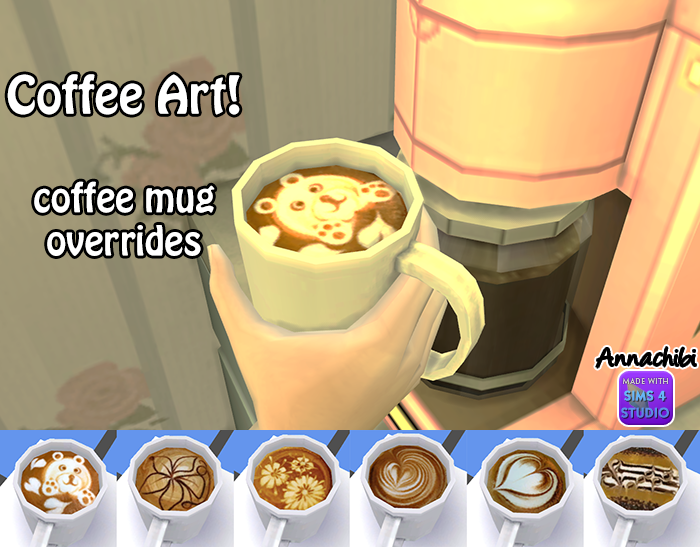 Coffee Art by Annachibi's Sims