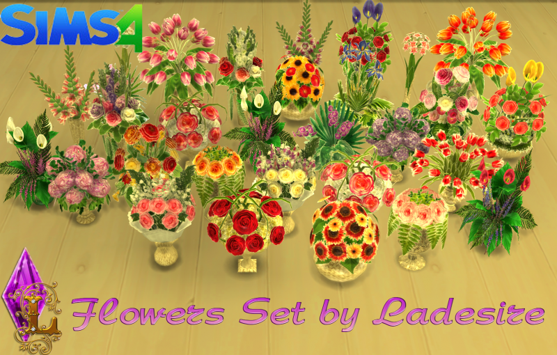 Flowers Set by Ladesire