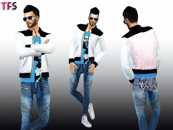 Diamond Powder Jacket by TwistedFate Sims