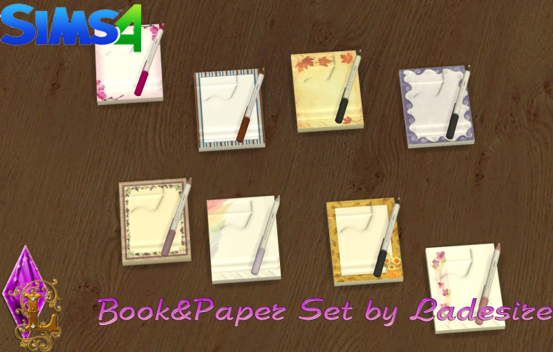 Book&Paper Set by Ladesire