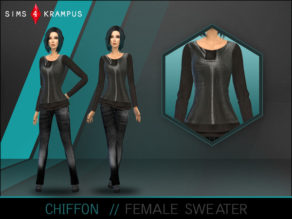 Chiffon Sweater by SIms4Krampus