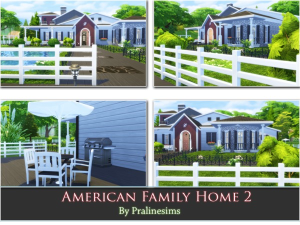 American Family Home 2 by Pralinesims