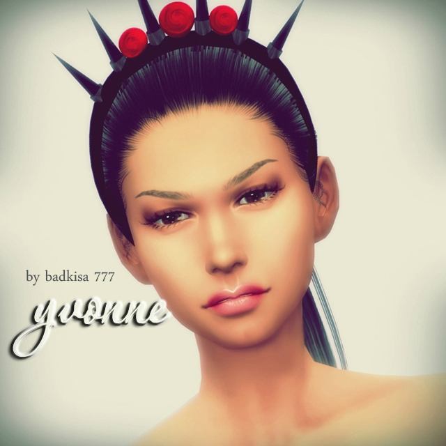 Ивонн / Yvonne sims by badkisa 777 for sims 4