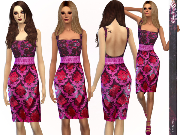 Modern Damask Bodycon Dress by Simsimay