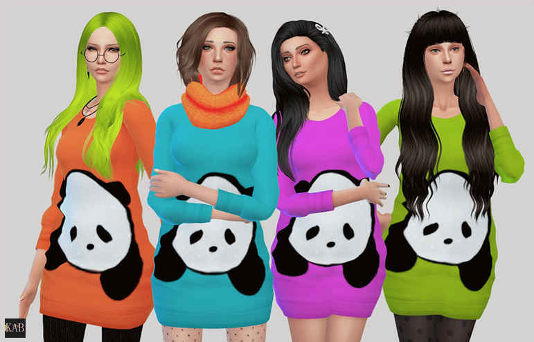 TS4 Panda Sweater for females by Krabbie