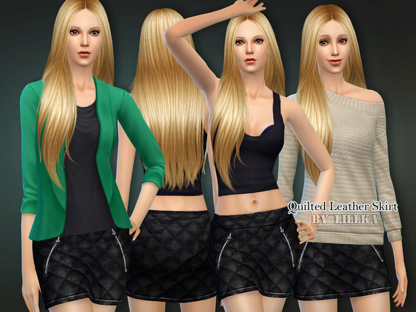 Quilted Leather Skirt by lillka