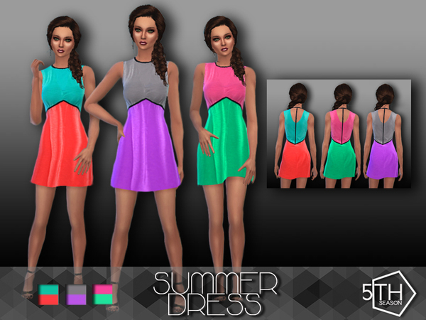 Colorful Summer Dress by 5th_Season