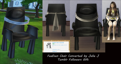 Tumblr Followers Gift - FeeEssen Chair Converted by Julie J