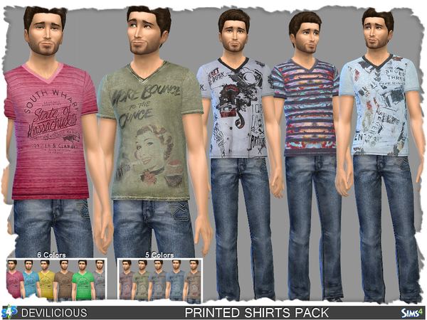 Printed Shirts Pack by Devilicious