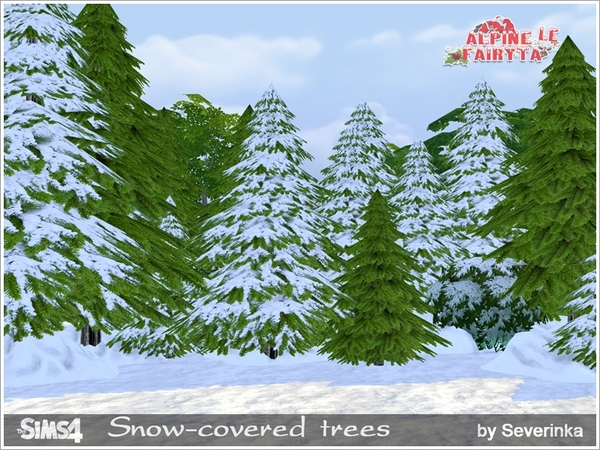Snow-covered trees by Severinka
