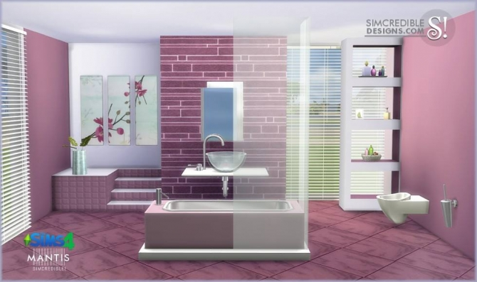 SIMcredible! Designs 4  Furniture, Bathroom : Mantis Sims 4 bathroom