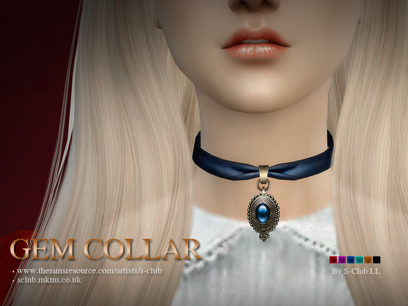 S-Club LL ts4 necklace (Gem collar)