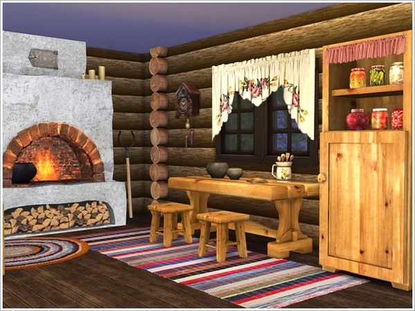 Forest hut set by Severinka