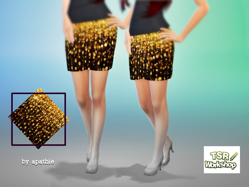 Gold Skirt BY Apathie