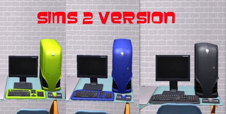 MaxoidMonkey's Alienware PC - TS4 Version by Esmeralda