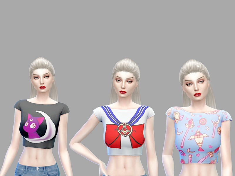 Sailor Moon crop tops  BY amoursimmer