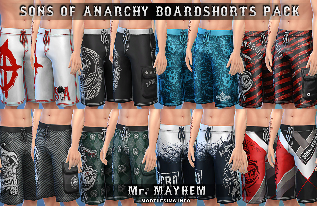 S.O.A. Boardshorts Pack by Mr. Mayhem