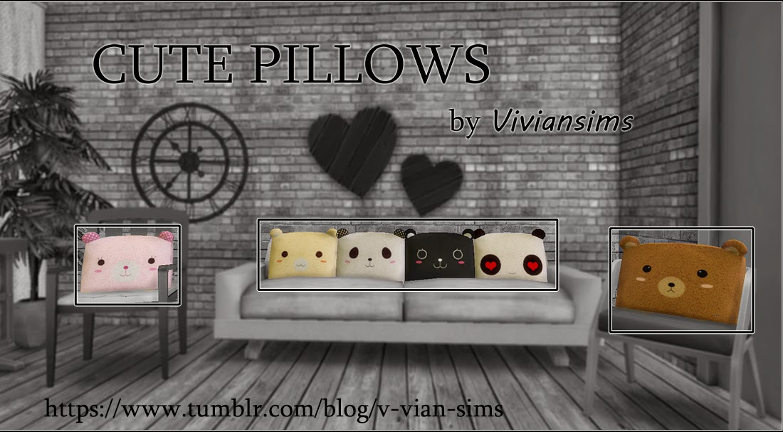 Cute Pillows by VvianSims