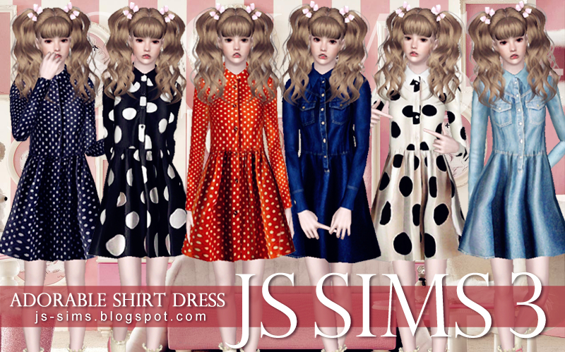 Adorable Shirt Dress by JS SIMS