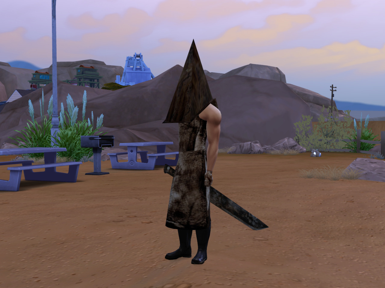 Pyramid Head Apron, Gloves, Helmet, Boots and Knife by Raizon