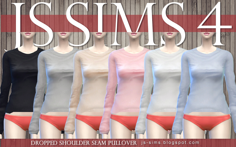 Dropped Shoulder Seam Pullover & Floral Cut Out Skirt by JS SIMS 4