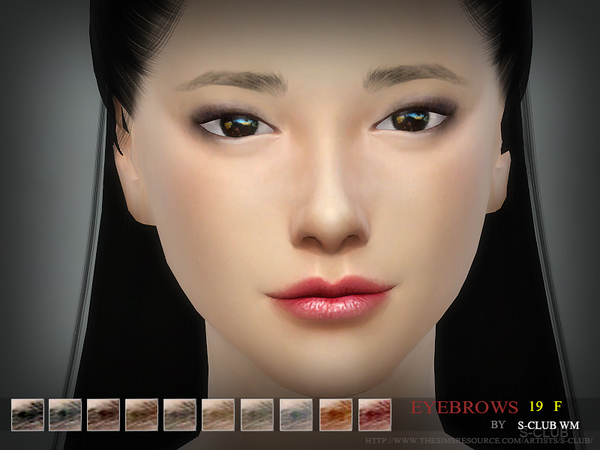 S-Club WM thesims4 Eyebrows19 F