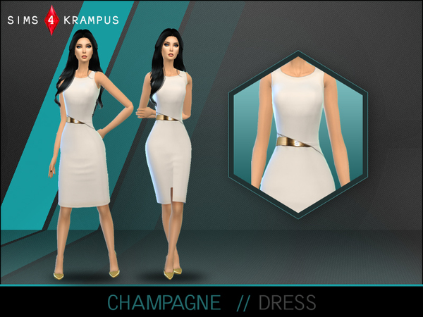 Champagne Dress by SIms4Krampus