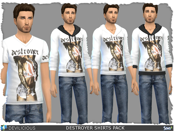 Destroyer Shirts Pack by Devilicious