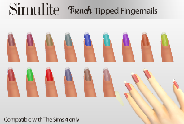 French Tipped Nails by Simulite