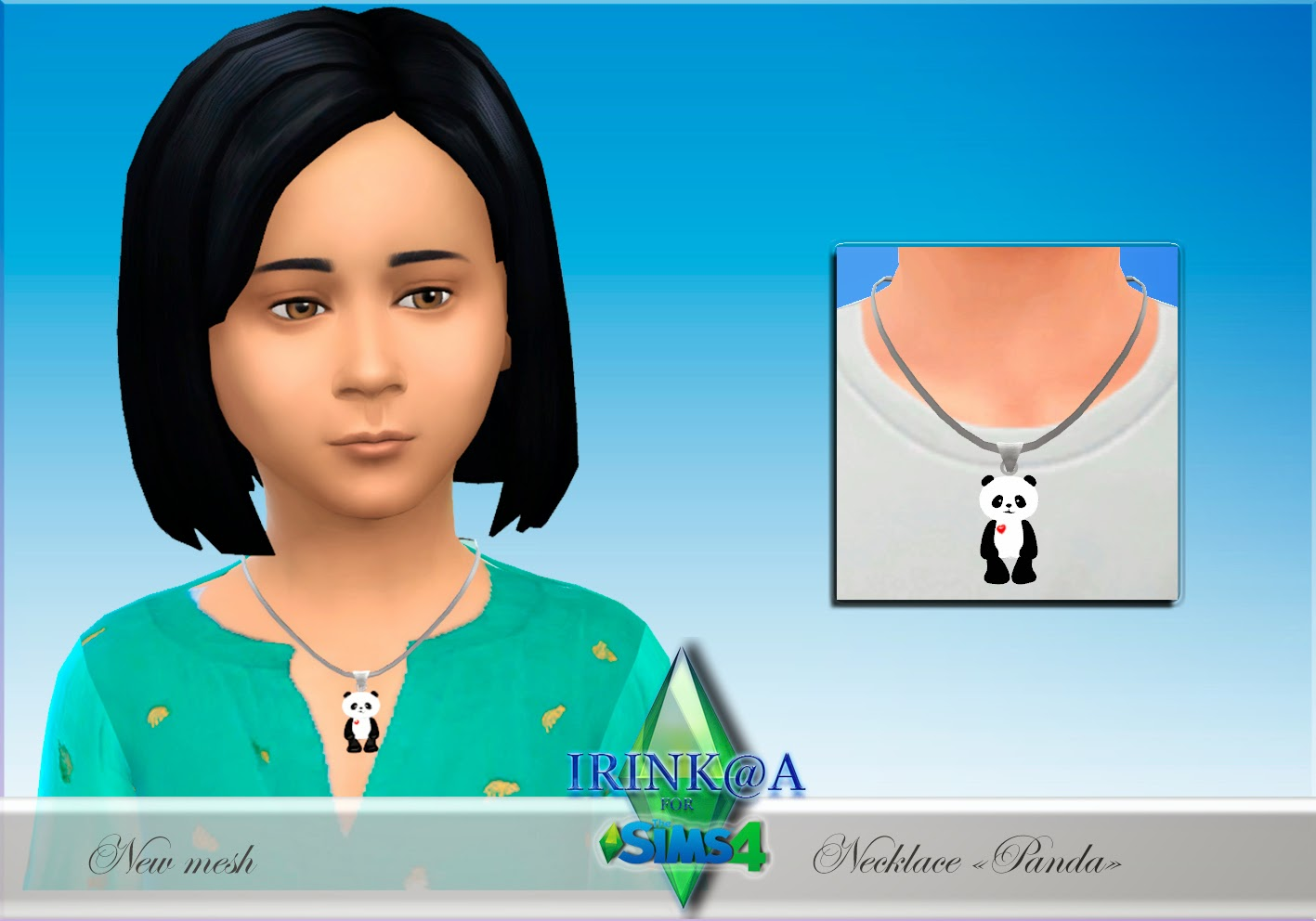 "Necklace ""Panda"" by Irink@a"