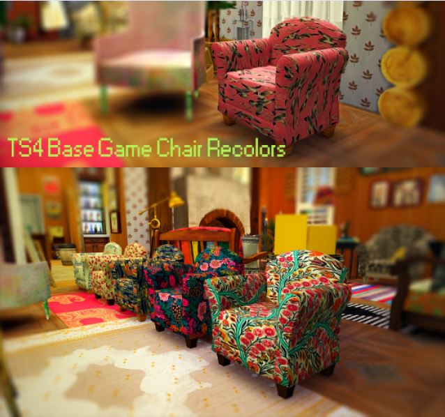 Chair Recolors by WoohooJuiceSimoleons