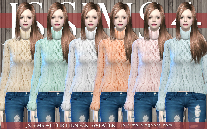 Turtleneck Sweaters for Teen - Elder Females by JS Sims 4