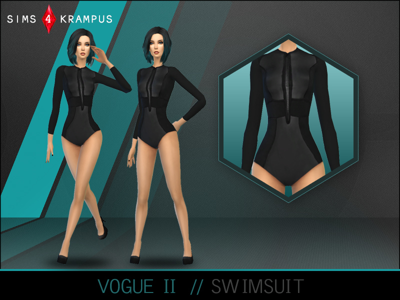 Vogue Swimsuit II BY SIms4Krampus