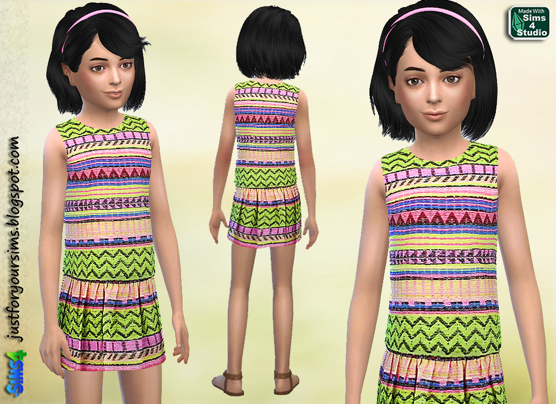 Aztec Pattern Dress by Just For Your Sims