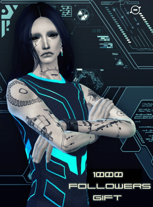 Cyber Outfit for Males by Soloriya
