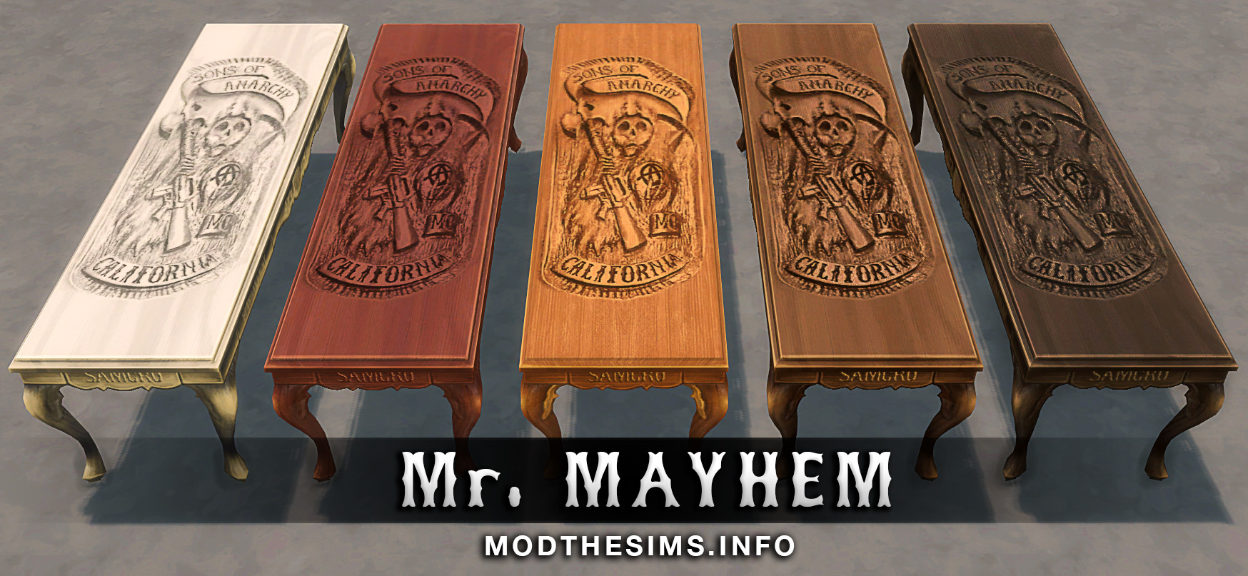 Carved Reaper Table (Sons of Anarchy's Table) by Mr. Mayhem