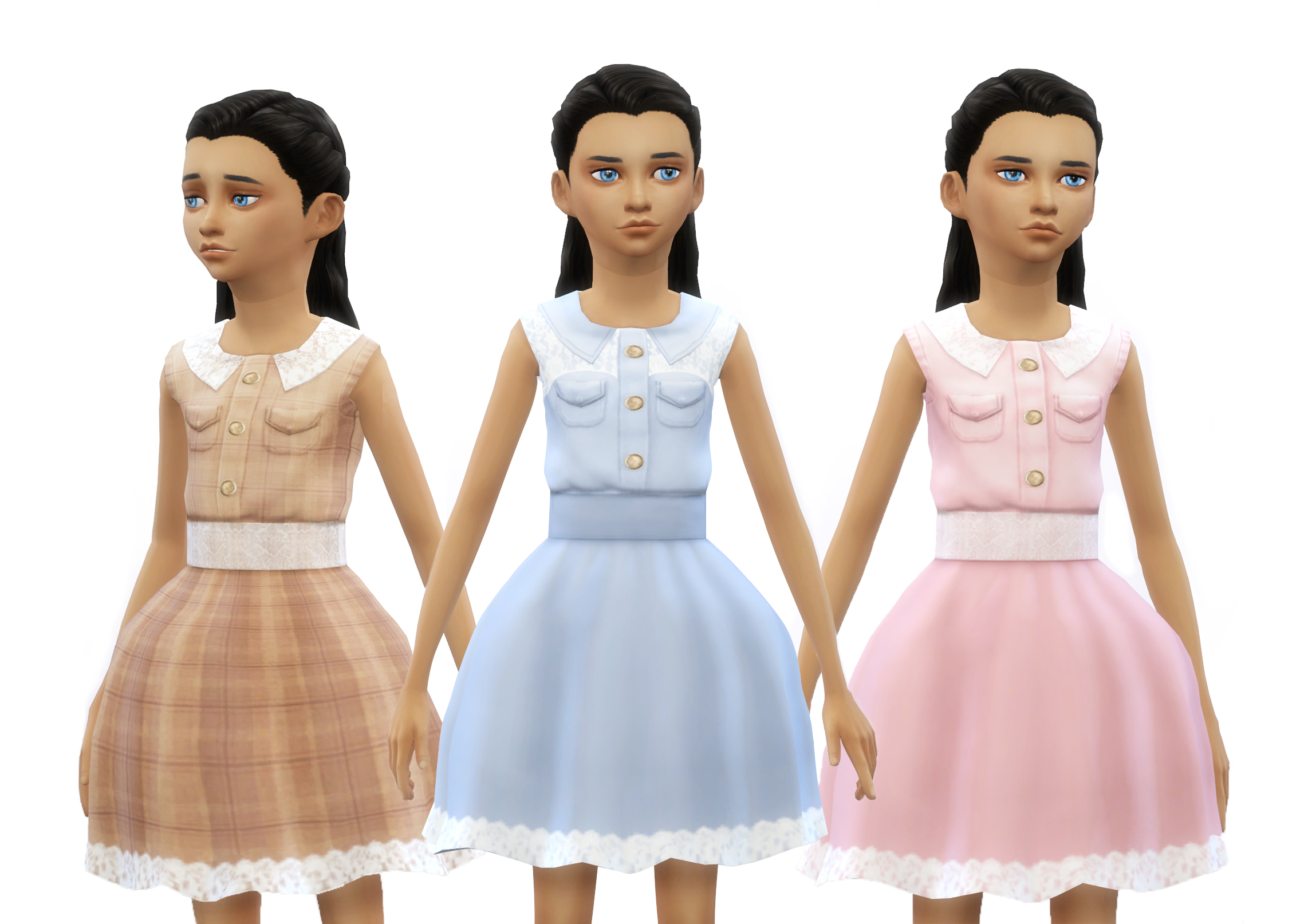 Pastel Dresses With Lace Details by dani-paradise