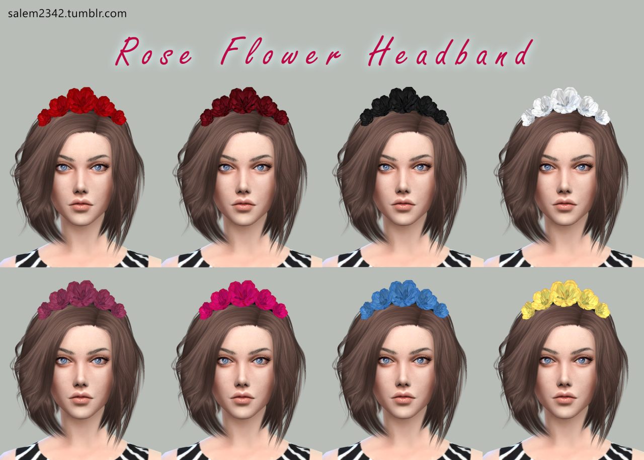 Rose Flower Headband by salem2342