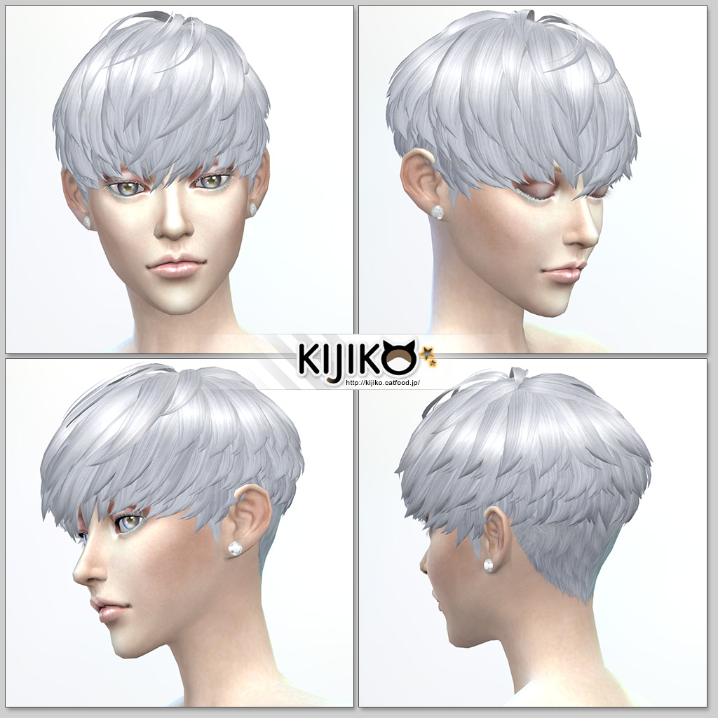 Short Hair With Heavy Bangs (for Female) by Kijiko