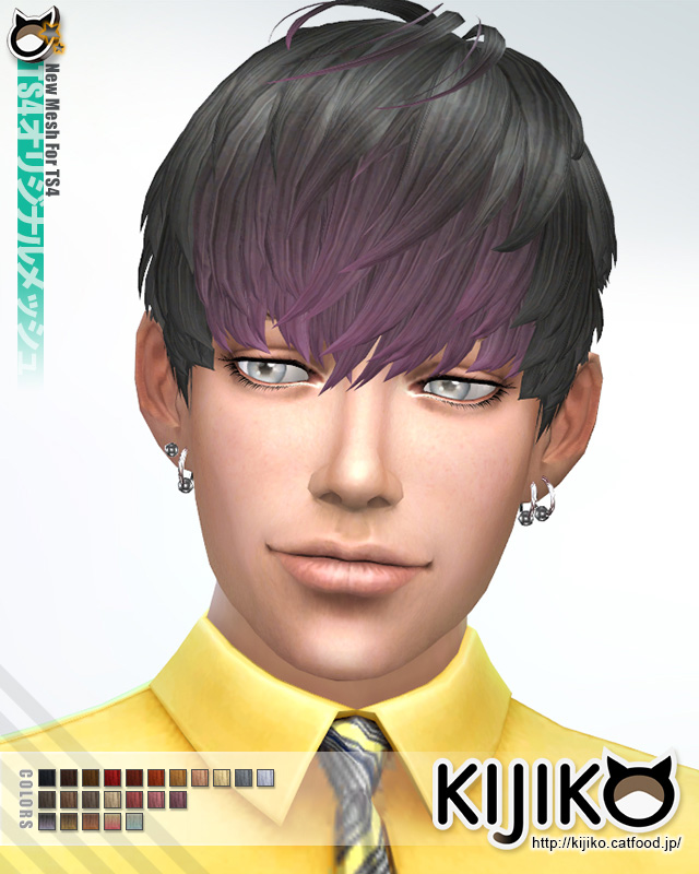 Short Hair With Heavy Bangs (for Male) by Kijiko