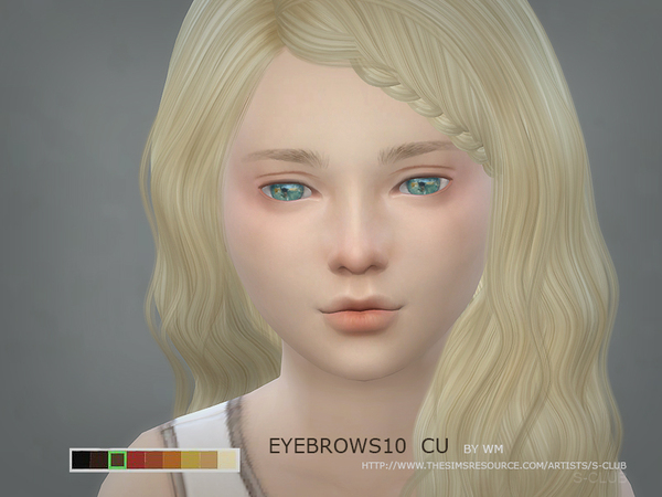 S-Club WM thesims4 Eyebrows10 CF