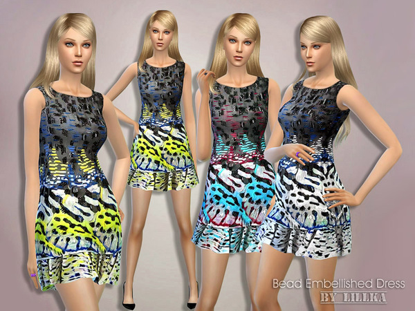Bead Embellished Dress by lillka