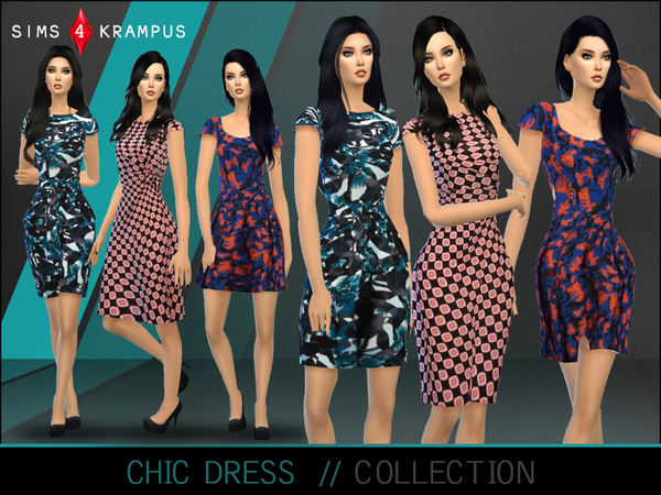 Chic Dress Collection by SIms4Krampus