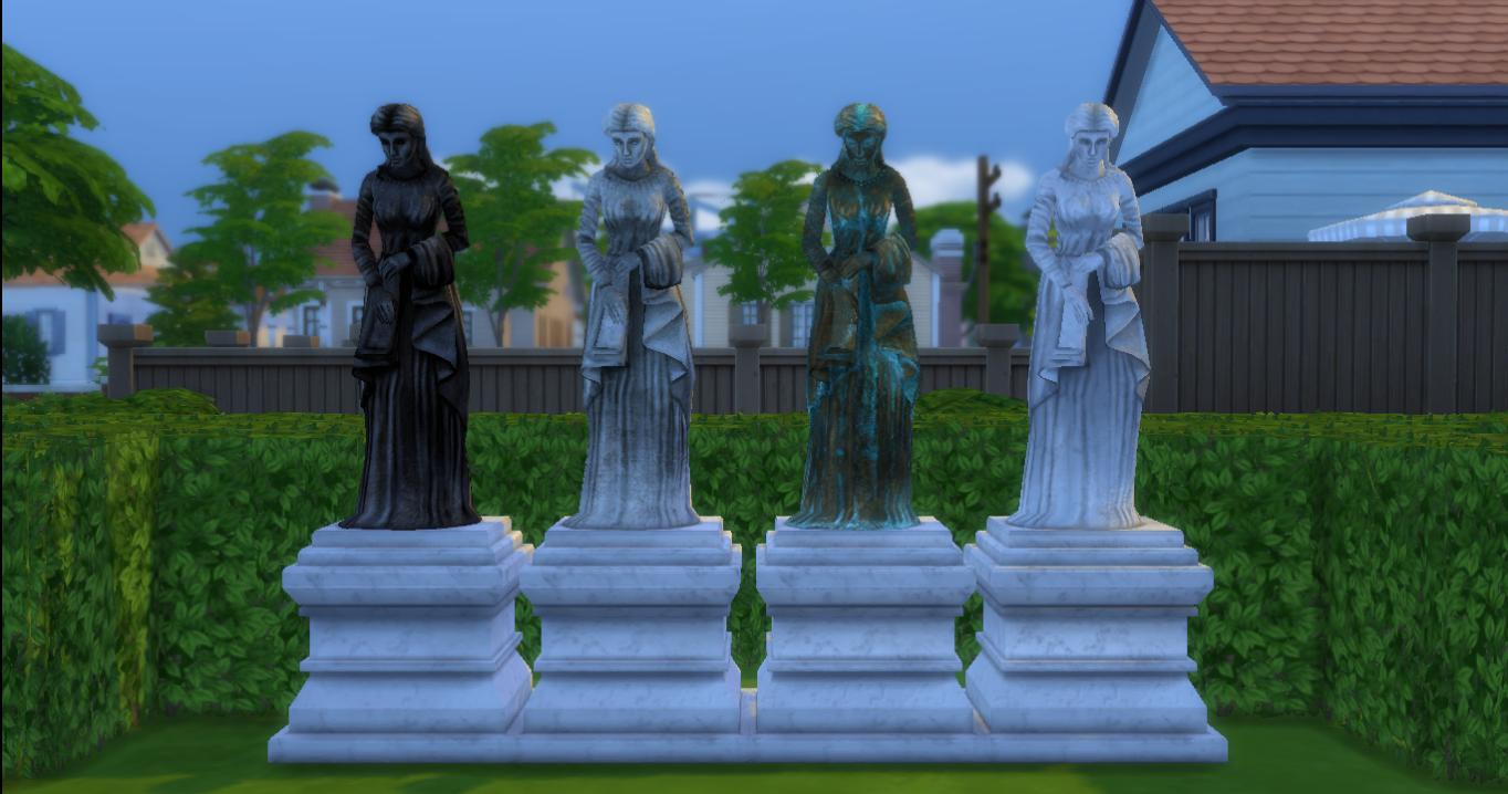 The Sims 2 Sculptures set by AdonisPluto