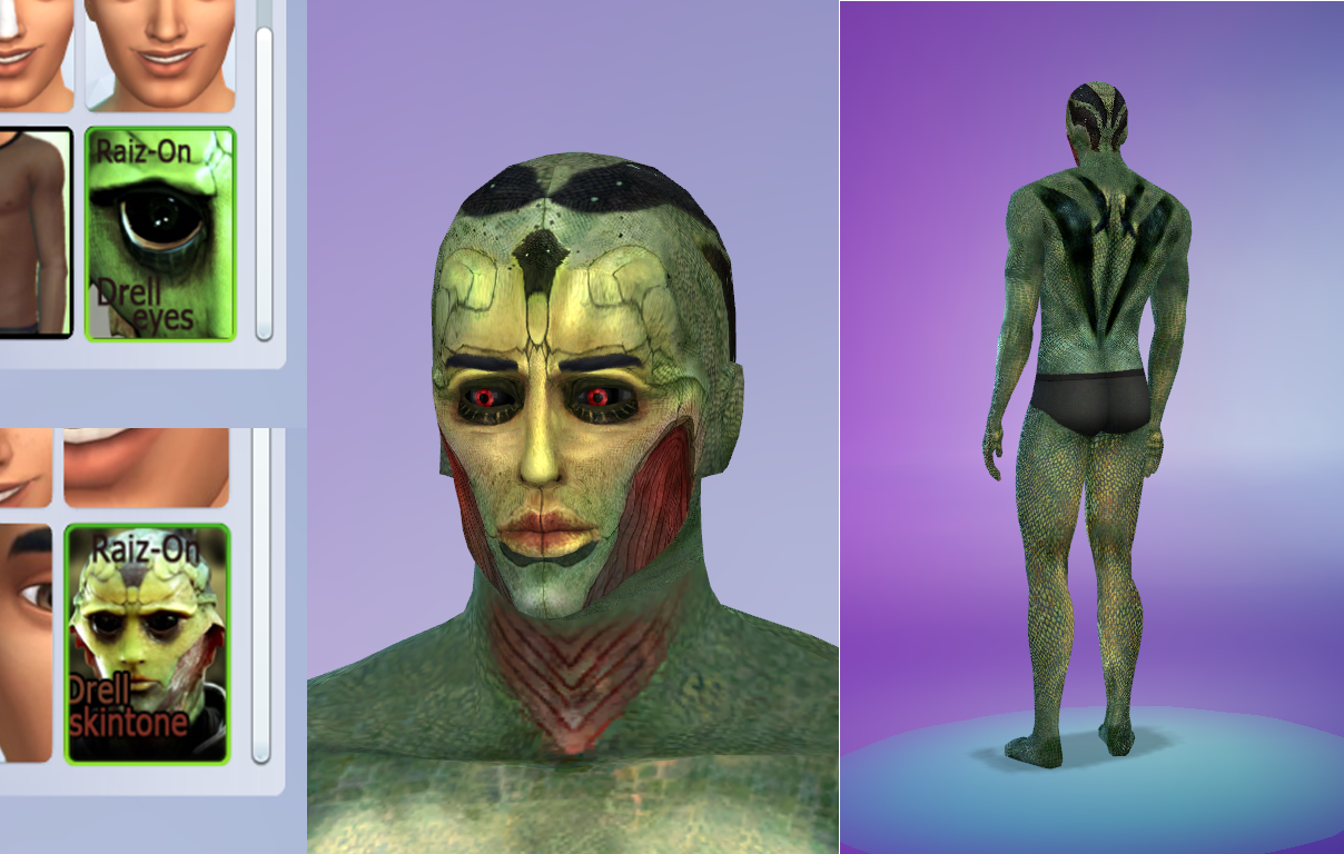 Drell Skin and Eyes by Raizon