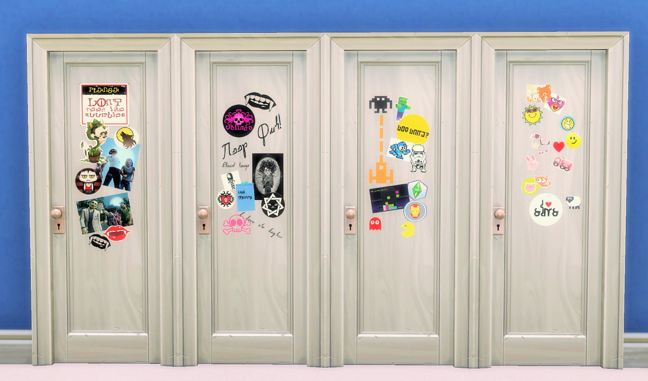 The Sticker Door in 8 flavours by Budgie2Budgie